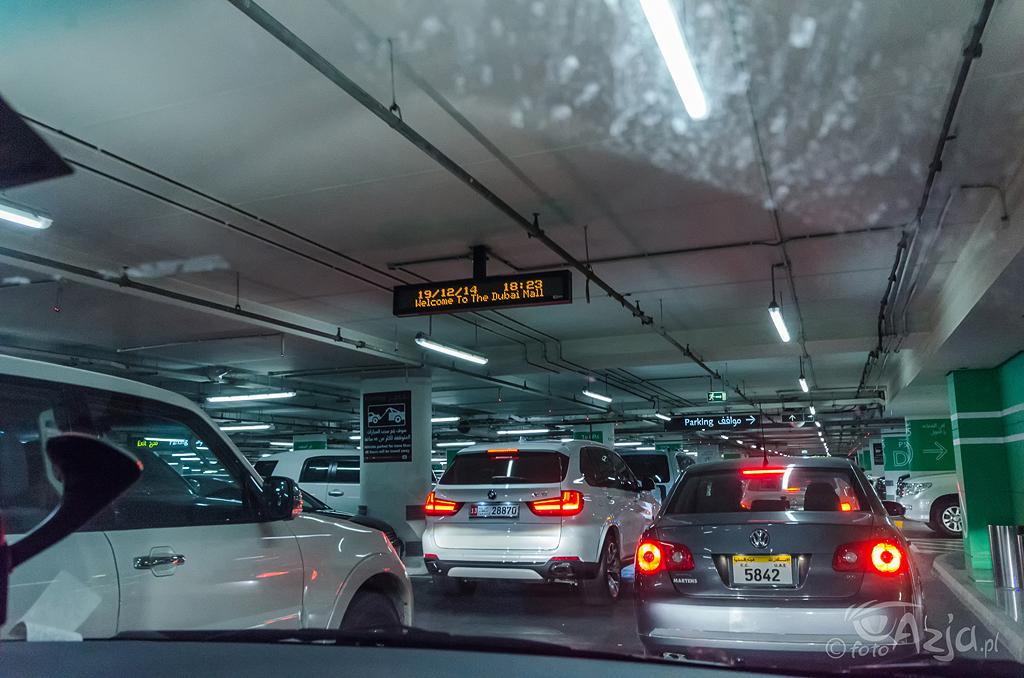 Wjazd na parking w Dubai Mall