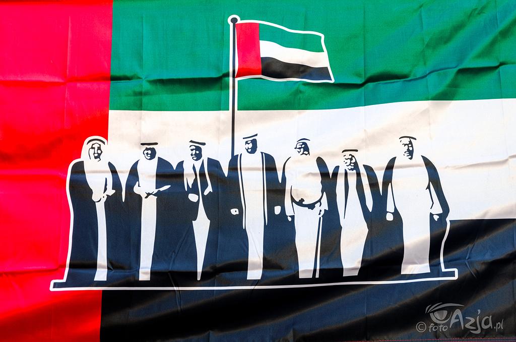 Flaga z okazji rocznicy zjednoczenia kraju