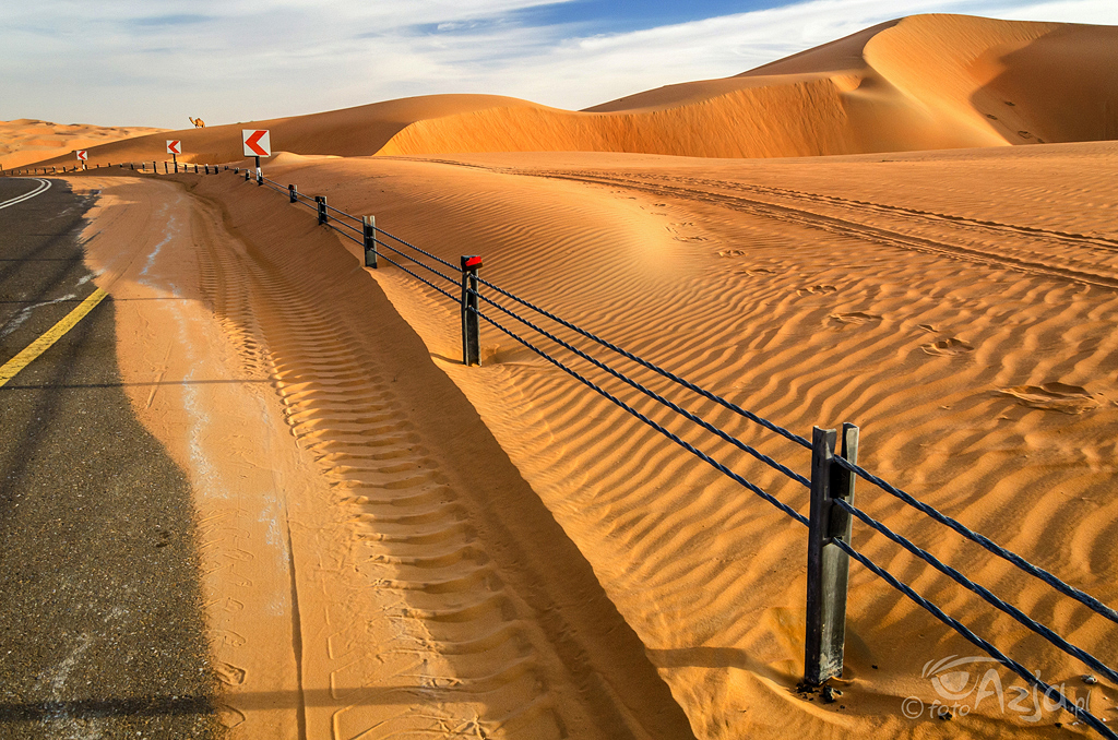 Droga przez piaskowe wydmy