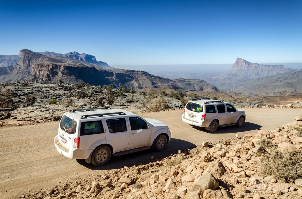 Górska droga w okolicach Wielkiego Kanionu Arabii