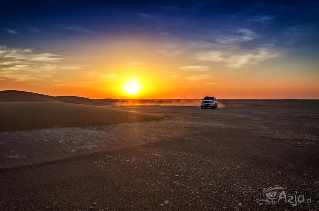 Zachód słońca na wydmach