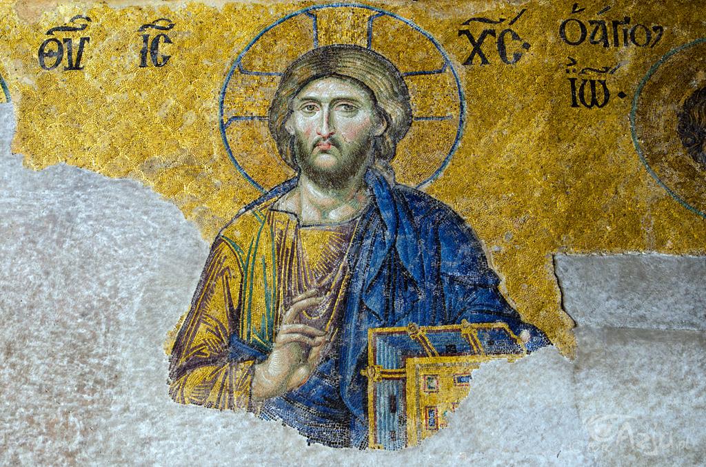 Mozaika Chrystusa w Hagia Sofia